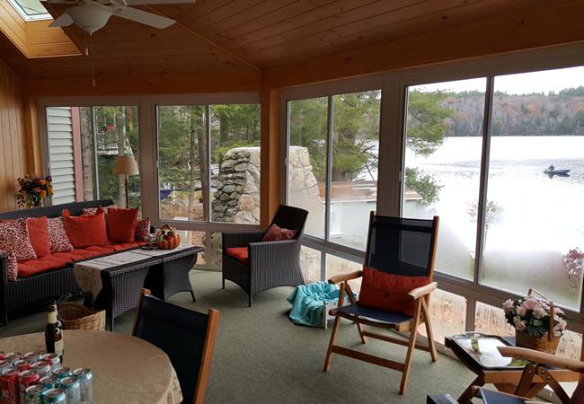 Otter Pond Lake House Interior Sunroom