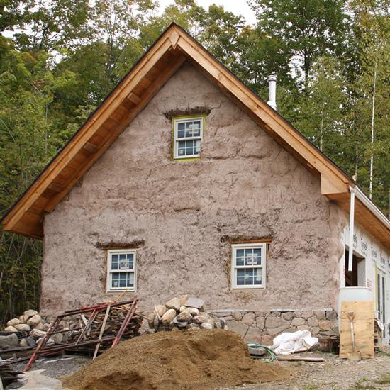 Straw Bale Studio Exterior