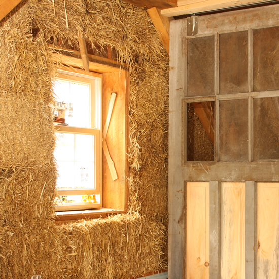Straw Bale Studio Interior Detail